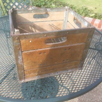 Vintage Wood & Metal Quality Dairy Co, St Louis MO Milk Crate