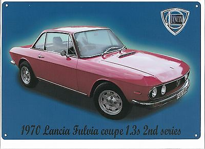 Lancia Fulvia metal poster/sign,   , classic car memorabilia sign