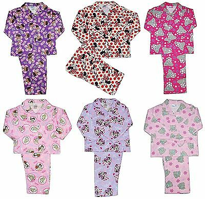 Girls Disney Minnie Mouse Princess Tatty Teddy Doc Flannelette Wincy Pyjamas