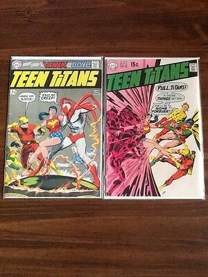 Teen Titans #21 and #22 VG/FN (Neal Adams, Hawk and Dove).