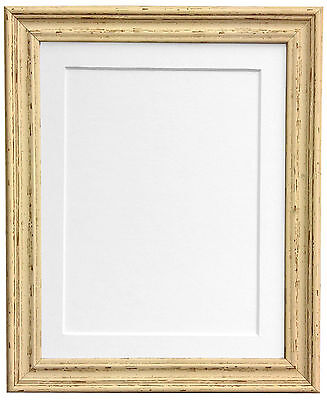 Old Vintage Cream Photo Picture Frames with choice of Mount and Backing Boards