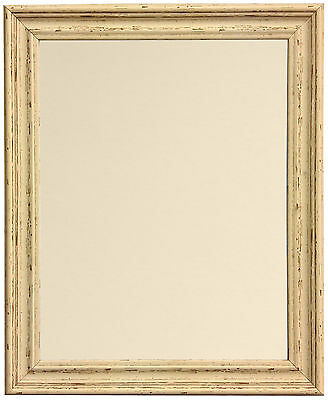 Old Vintage Cream Photo Picture Frames with Backing Board in Various Colours