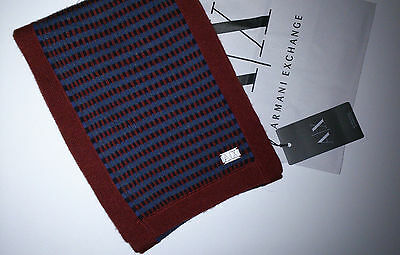 Armani Exchange Mens Scarf ----- 100% Authentic --- New With Tags !