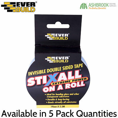 Stixall Extreme Power on a Roll | Invisible Double Side Tape | 19mm x 2.5m