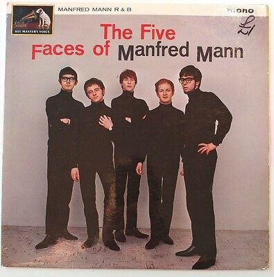Manfred Mann - The Five Faces Of.. CLP 1731. G+/G+. UK 1st Press Vinyl Record LP