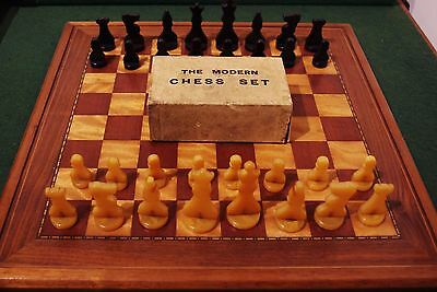 """The Modern Chess Set 2 3/4"""""""" king in original box.Board NOT included"""