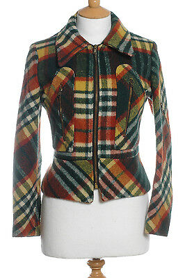 Vintage 1970's Plaid Check Bomber Jacket 12