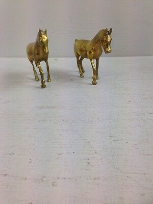 Pair of Brass Horse Ornaments