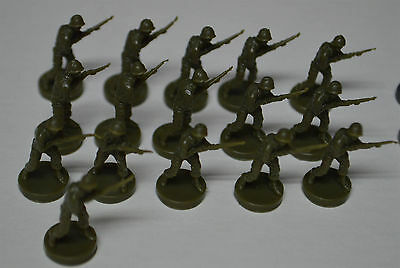 AXIS & ALLIES Board Game 1984-87 Replacement Infantry USA 16 Pieces