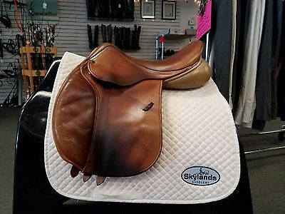 """Used County Innovation Jump Saddle - Size: 17"""" - Light Brown"""