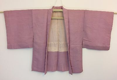 Silk authentic Japanese pink haori jacket for kimono, Japan import (H981)