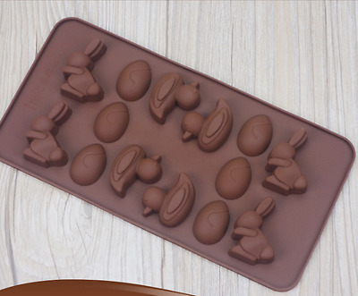 Easter Bunny Duck Egg Food Grade Chocolate Silicone Mould Jelly Home Baking