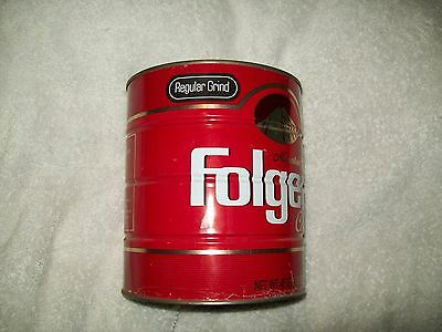 VINTAGE FOLGER'S Coffee Can tin
