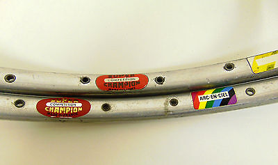 Vintage Used Tubular Rims Super Champion Competition 32 Hole