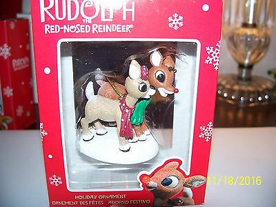Enesco Rudolph The Red Nose Reindeer With Girlfriend  Ornament