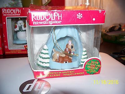 Enesco Rudolph The Red Nose Reindeer  With His Mother Brighten Up  Ornament