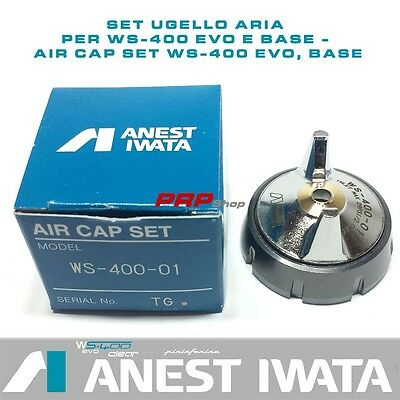 Set Ugello Aria per Anest Iwata WS-400 Evo clear e Base - Air Cap Set WS-400 Evo