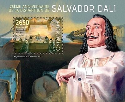 Central Africa 2014 Salvador Dali Paintings Painter Spain S/S CA14107 s