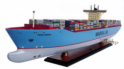 Emma Maersk Container Ship Model Display Ready