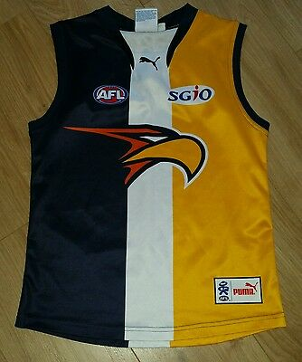 WEST COAST EAGLES Australian Rules Football shirt top vest jersey size 16