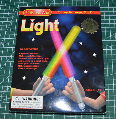 SCIENCE WIZ  LIGHT --  25 Activities With LIGHT By Penny Norman, New