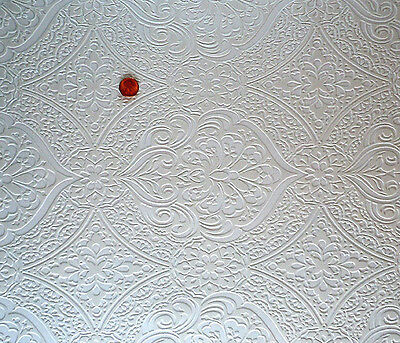 Dollhouse Ceiling Wallpaper Oval Flourette – 2 Large Shts!    DBJ-11
