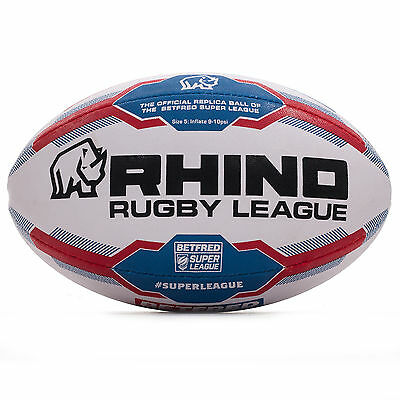 Rhino Rugby Betfred Super League 2017 Replica Official Rugby League Ball - 5