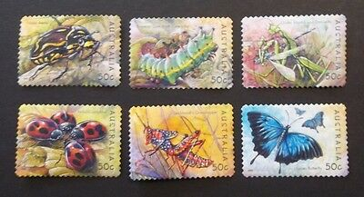 AUSTRALIA USED 2003 INSECTS 50c SA 6 VALUE COMPLETE SET SC# 2193 - 2198