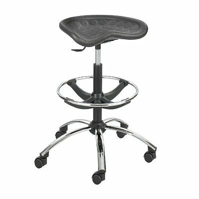 Safco Products 6660BL SitStar Stool Chrome Base for use with SitStar Back ...NEW