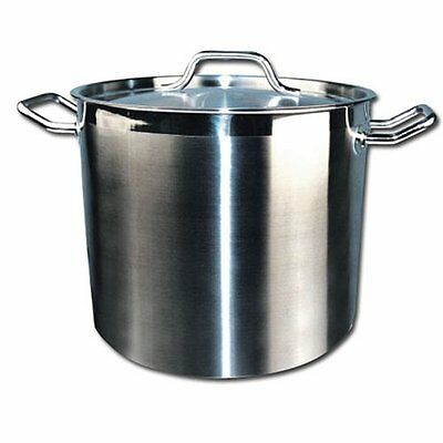 Winware Stainless 20-Quart Steel Stock Pot with Cover...NEW