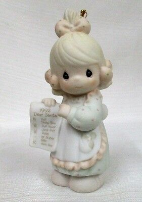 1992 Precious Moments Ornament~But The Greatest Of These Is Love~527696 Mint