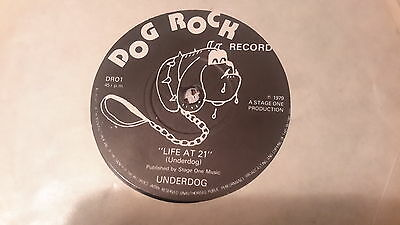 Rare Punk Single.underdog Life At 21/blue Water White Death.1979