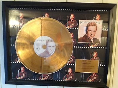 Johnny Cash 'The Best Of' 24ct Gold Coated Disc