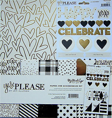 "New Line! My Mind's Eye  ""YES, PLEASE""  Paper & Accessories Kit  [Save 40%]"