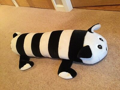 Soft toy - Black and White Striped Cat