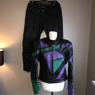 Unvex Motorcycle Leathers Size 54 Two Piece Suit Armoured