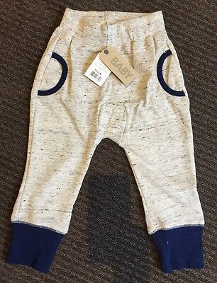 Cotton On Baby Tracksuit Pants Trackies Size 1, 12-18 Months BNWT New