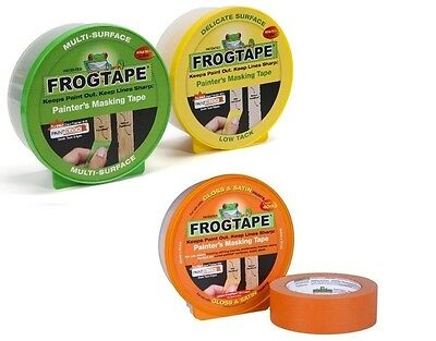 Frogtape Decorators Masking Tape:Green multisurface Yellow delicate Orange gloss