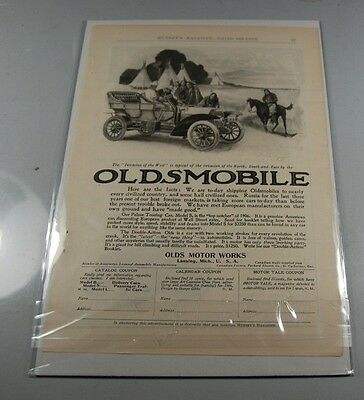 1906 Ad Oldsmobile Invasion Of The West Nice Art Work