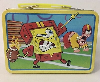 SpongeBob - Tin Metal Lunch Box - YELLOW - Boys & Girls - #08