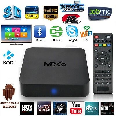 MXQ Quad Core Android Smart TV Box WIFI High Quality Device - FREE TV AND MOVIES