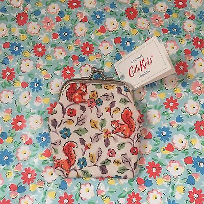 Genuine Cath Kidston KIDS Small Squirrel Clasp Coin Purse New with Tags