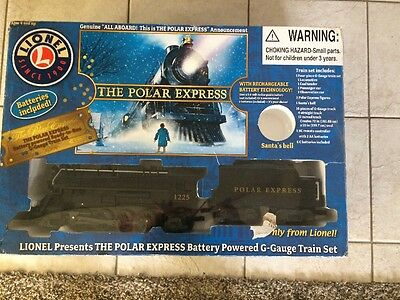 Lionel The Polar Express Battery Powered G-Guage Train Set!