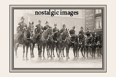Photo Taken From A 1909 Image Of Norwich Mounted Police