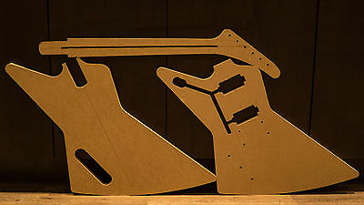 Gibson Explorer-Style MDF Guitar Template