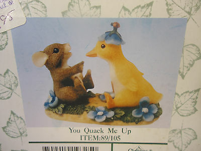 Charming Tails - You Quack Me Up.  Mint in Box