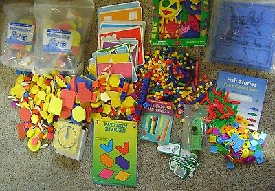 Lot of Educational learning materials (Cuisenaire Rods, Pattern Blocks & more)