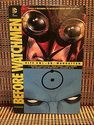 Before Watchmen-Nite Owl/Dr. Manhattan Graphic Novel Comic Book.HC Hard Cover.DC