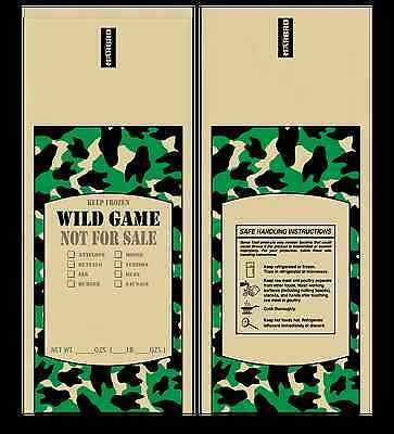 Poly Meat Bags Wild Game - 2 lb, Case of 1000 - Camo, Chub, Freezer, Stuffing