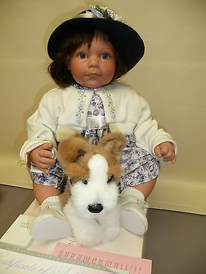 "Lee Middleton Doll ""Walk in the Park"" by Reva Schick w/Box, COA, Bible & Dog"
